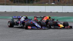 F1 GP Germania 2019, Albon (Toro Rosso) e Gasly (Red Bull) in lotta a Hockenheim