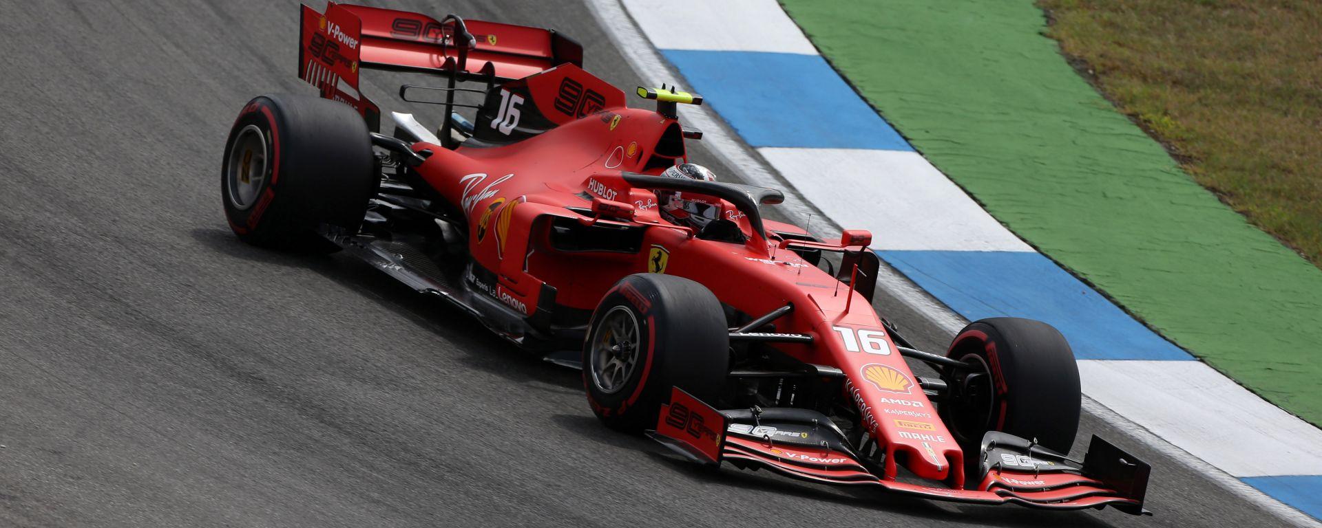 F1 GP Germania 2019, Charles Leclerc (Ferrari) durante le positive prove libere