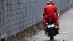 F1 GP Germania 2019, Charles Leclerc (Ferrari) lascia in moto il luogo dell'incidente
