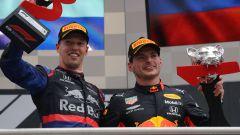 F1 GP Germania 2019, Daniil Kvyat (Toro Rosso) e Max Verstappen (Red Bull)
