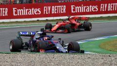 F1 GP Germania 2019, Daniil Kvyat (Toro Rosso) inseguito da Sebastian Vettel (Ferrari)