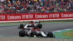 F1 GP Germania 2019, Kimi Raikkonen e Antonio Giovinazzi (Alfa Romeo)