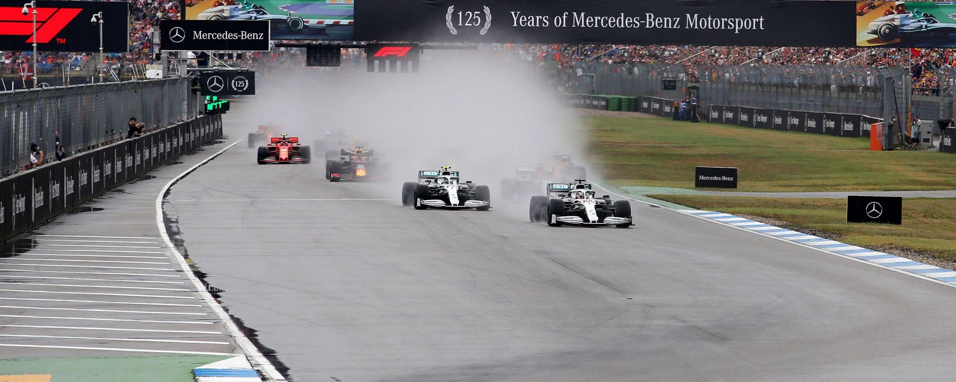 F1 GP Germania 2019, la partenza della gara a Hockenheim