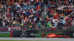 F1 GP Germania 2019, l'incidente di Charles Leclerc (Ferrari) in curva-16