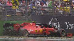 F1 GP Germania 2019, L'incidente di Charles Leclerc (Ferrari)