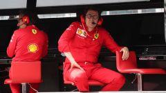 F1 GP Germania 2019, Mattia Binotto al muretto Ferrari