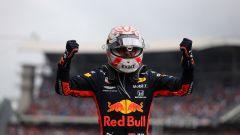 F1 GP Germania 2019, Max Verstappen (Red Bull) esulta dopo il traguardo