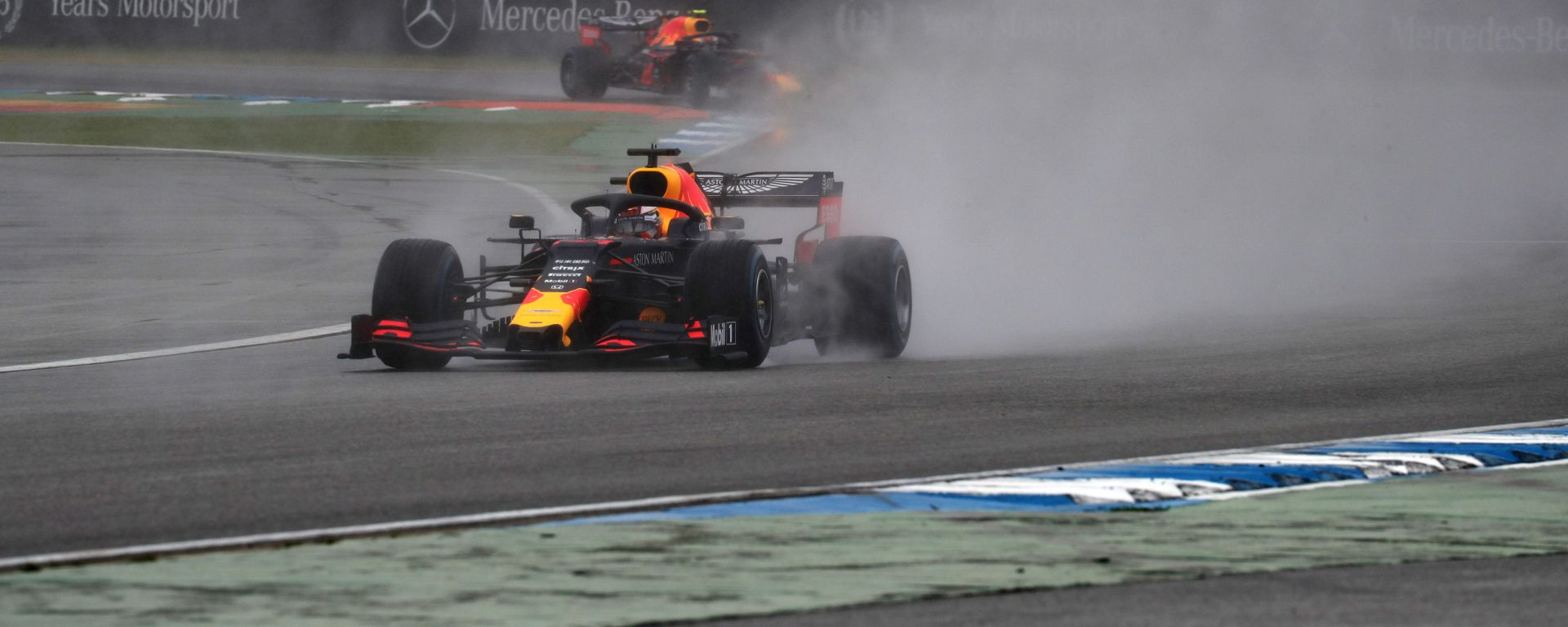 F1 GP Germania 2019, Max Verstappen (Red Bull) trionfa sul bagnato di Hockenheim