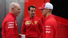 F1 GP Germania 2019, Mick Schumacher al box Ferrari prima di salire sulla F2004 di papà Michael - 4