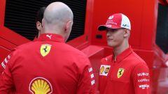 F1 GP Germania 2019, Mick Schumacher al box Ferrari prima di salire sulla F2004 di papà Michael - 8