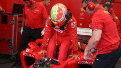 F1 GP Germania 2019, Mick Schumacher sale sulla Ferrari F2004 di papà Michael - 1