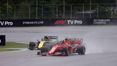 F1, GP Germania 2019: Nico Hulkenberg (Renault) e Charles Leclerc (Renault)