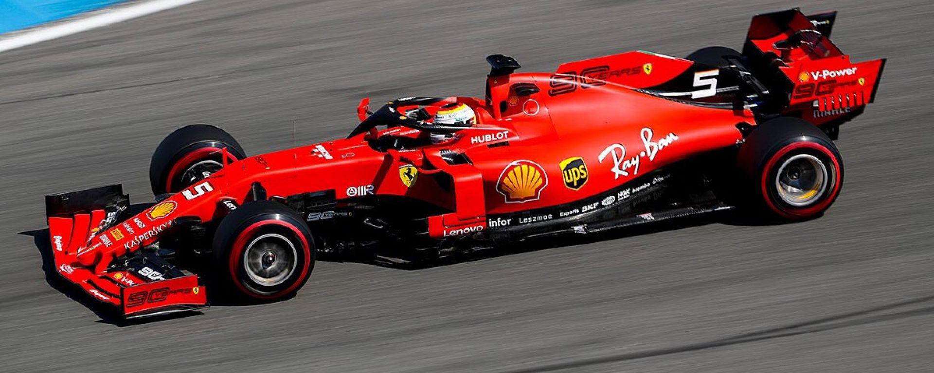 F1 GP Germania 2019, Sebastian Vettel (Ferrari) è il più veloce al termine delle prove libere 1
