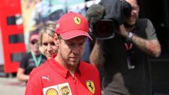 F1 GP Germania 2019, Vettel a testa bassa dopo l'eliminazione in Q1