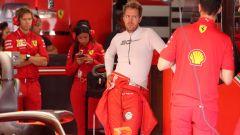 F1 GP Germania 2019, Vettel all'interno del box Ferrari