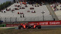 F1 GP Germania 2019, Vettel e Leclerc insieme nell'unico giro percorso in Q1