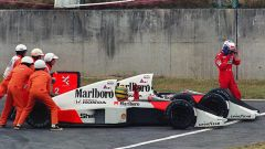 F1, GP Giappone 1989: il celebre incidente tra Ayrton Senna e Alain Prost (McLaren)