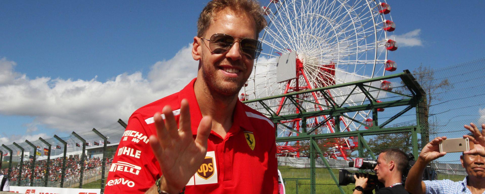 F1 GP Giappone 2018, Sebastian Vettel a Suzuka