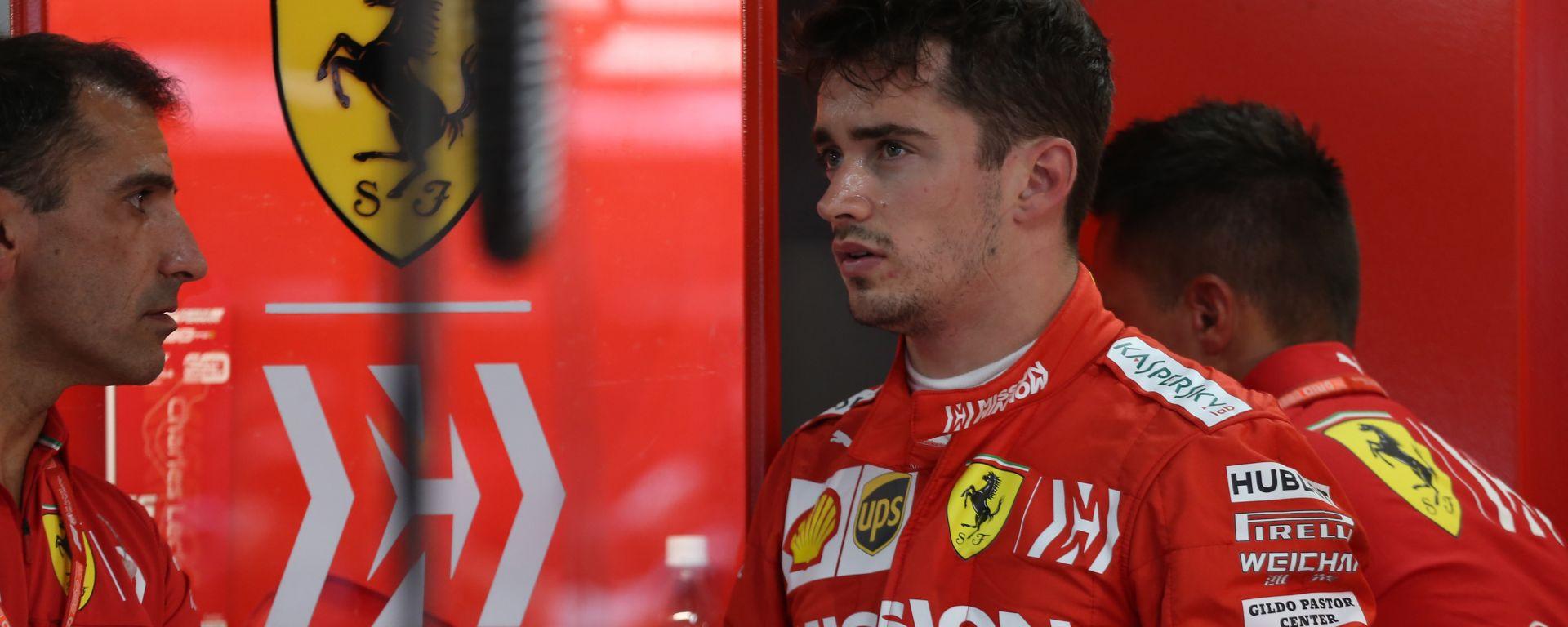 F1, GP Giappone 2019: Charles Leclerc e Marc Gene (Ferrari)