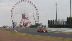 F1, GP Giappone 2019: Charles Leclerc (Ferrari) impegnato sul circuito di Suzuka