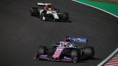 F1, GP Giappone 2019: Sergio Perez (Racing Point) e Antonio Giovinazzi (Alfa Romeo)