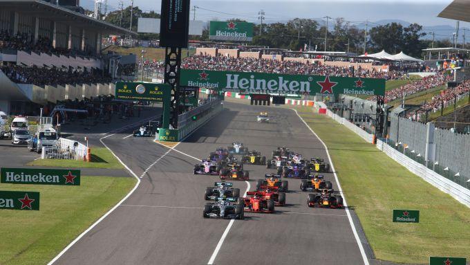 F1 GP Giappone 2019, Suzuka: la partenza