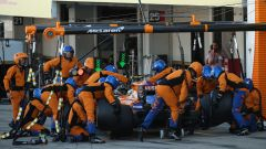 F1 GP Giappone 2019, Suzuka: Lando Norris (McLaren) ai box