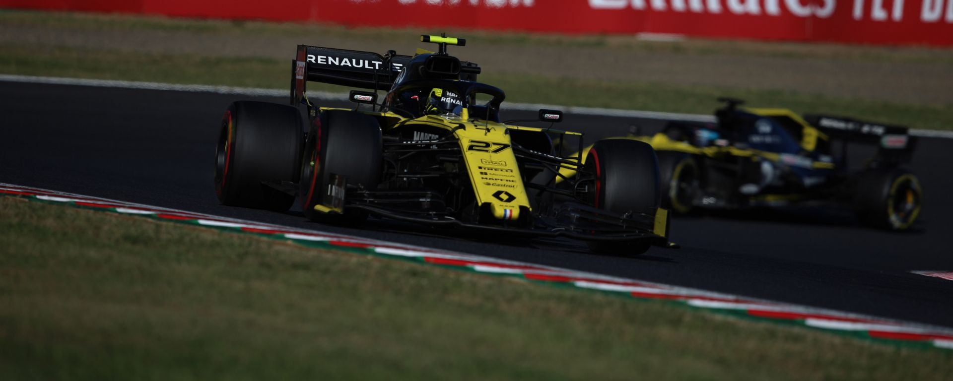 F1 GP Giappone 2019, Suzuka, Nico Hulkenberg e Daniel Ricciardo (Renault)