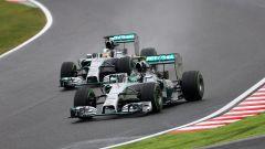 F1 GP Giappone 2019, Suzuka: Nico Rosberg e Lewis Hamilton (Mercedes)
