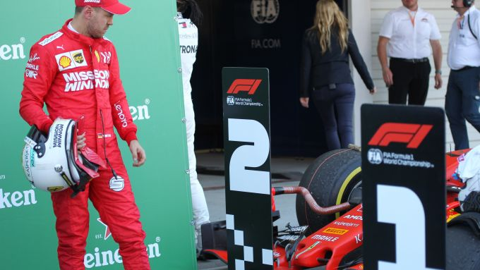 F1 GP Giappone 2019, Suzuka: Sebastian Vettel (Ferrari) dopo il traguardo