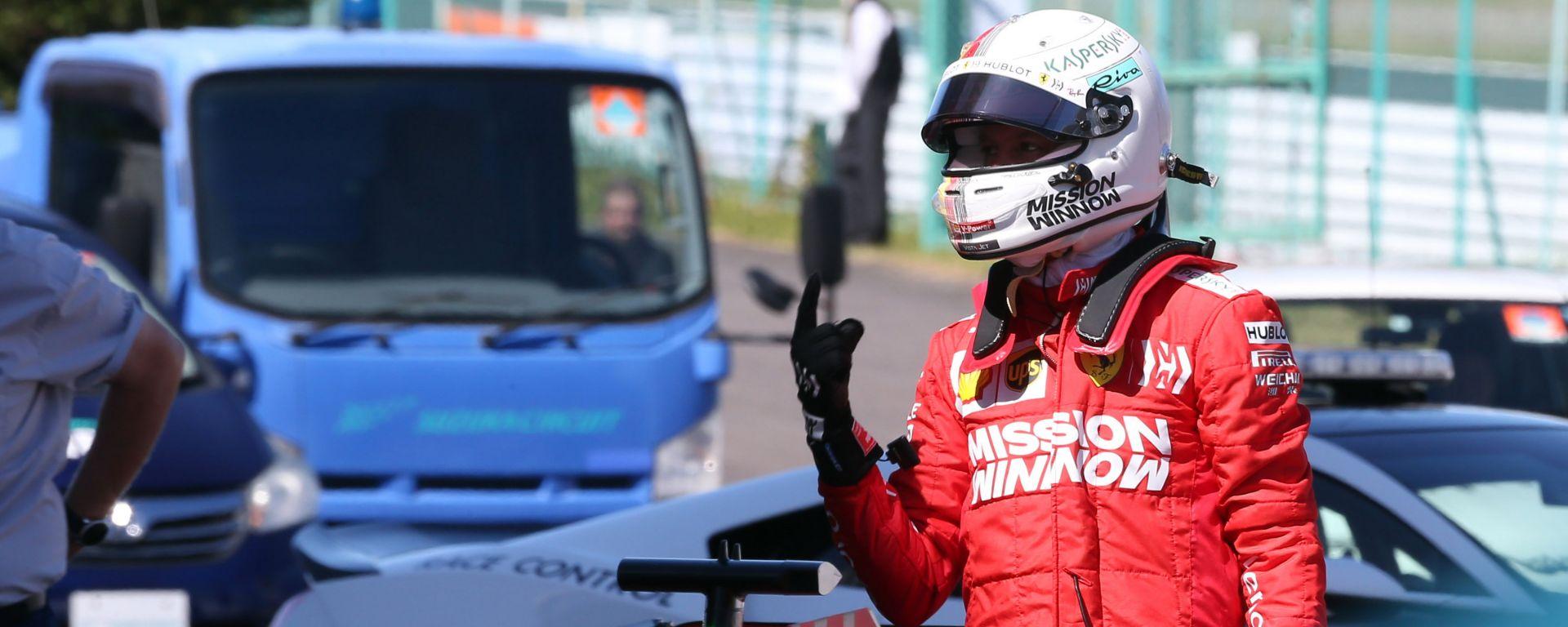 F1 GP Giappone 2019, Suzuka: Sebastian Vettel (Ferrari) è il poleman