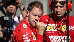 F1 GP Giappone 2019, Suzuka: Sebastian Vettel (Ferrari) prima della partenza