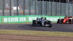 F1 GP Giappone 2019, Suzuka: Valtteri Bottas (Mercedes) precede Sebastian Vettel (Ferrari)