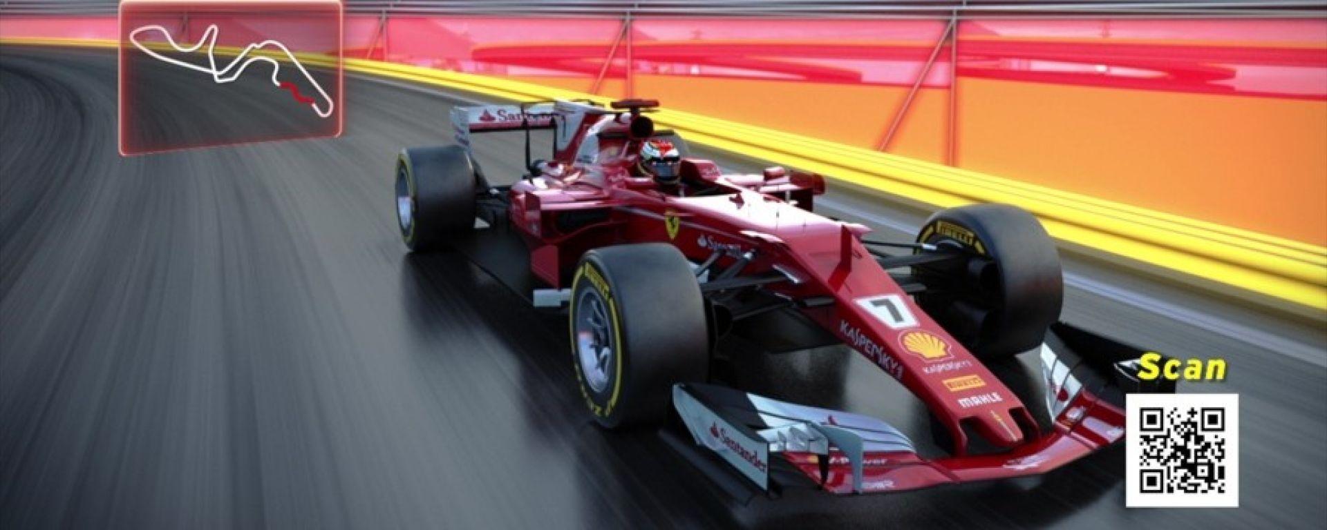 A Suzuka per un giro di pista virtuale con la Ferrari