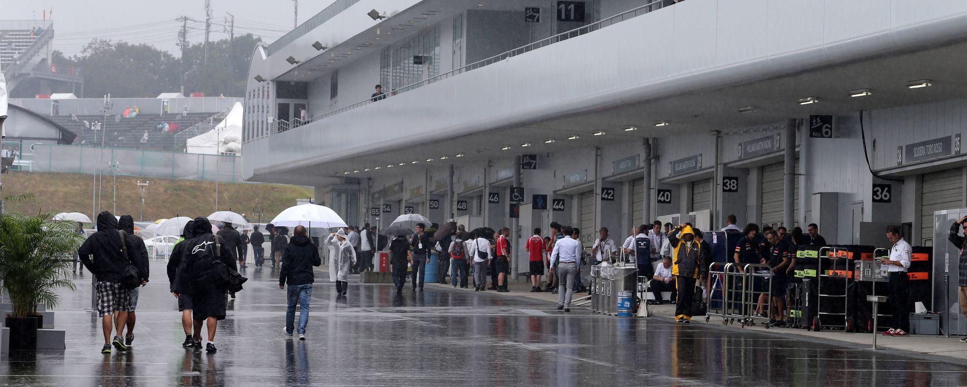 GP Giappone, il tifone Hagibis ha toccato terra