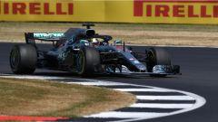 F1 GP Gran Bretagna 2018, Lewis Hamilton in azione