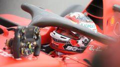 F1 Gp Gran Bretagna 2019, Charles Leclerc sorridente dopo aver conquistato il podio