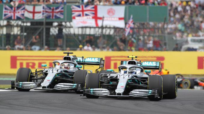 F1 GP Gran Bretagna 2019, Silverstone: Lewis Hamilton e Valtteri Bottas (Mercedes)