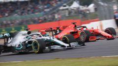 F1 GP Gran Bretagna 2019, Silverstone, Lewis Hamilton (Mercedes) e Charles Leclerc (Ferrari)