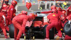 F1 GP Gran Bretagna 2019, un pit-stop per la Ferrari SF90 di Sebastian Vettel