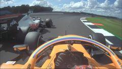 F1 GP Gran Bretagna 2020: Carlos Sainz (McLaren) e Romain Grosjean (Haas)