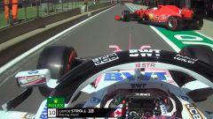 F1 GP Gran Bretagna 2020: l'unsafe release di Leclerc (Ferrari) su Stroll (Racing Point)