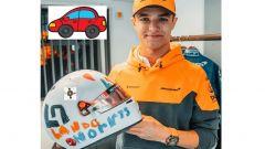 F1, GP Gran Bretagna 2020: Norris e il casco che hanno ispirato gli ingegneri Ferrari