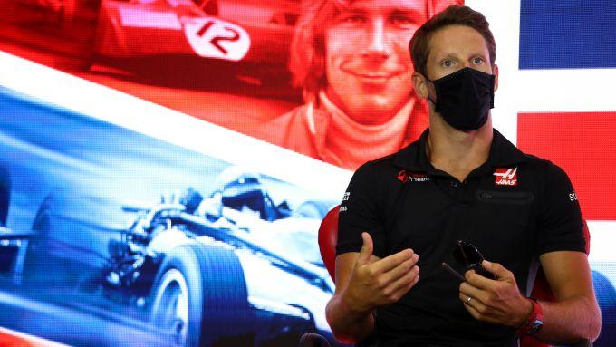 F1, GP Gran Bretagna 2020: Romain Grosjean (Haas) in conferenza stampa