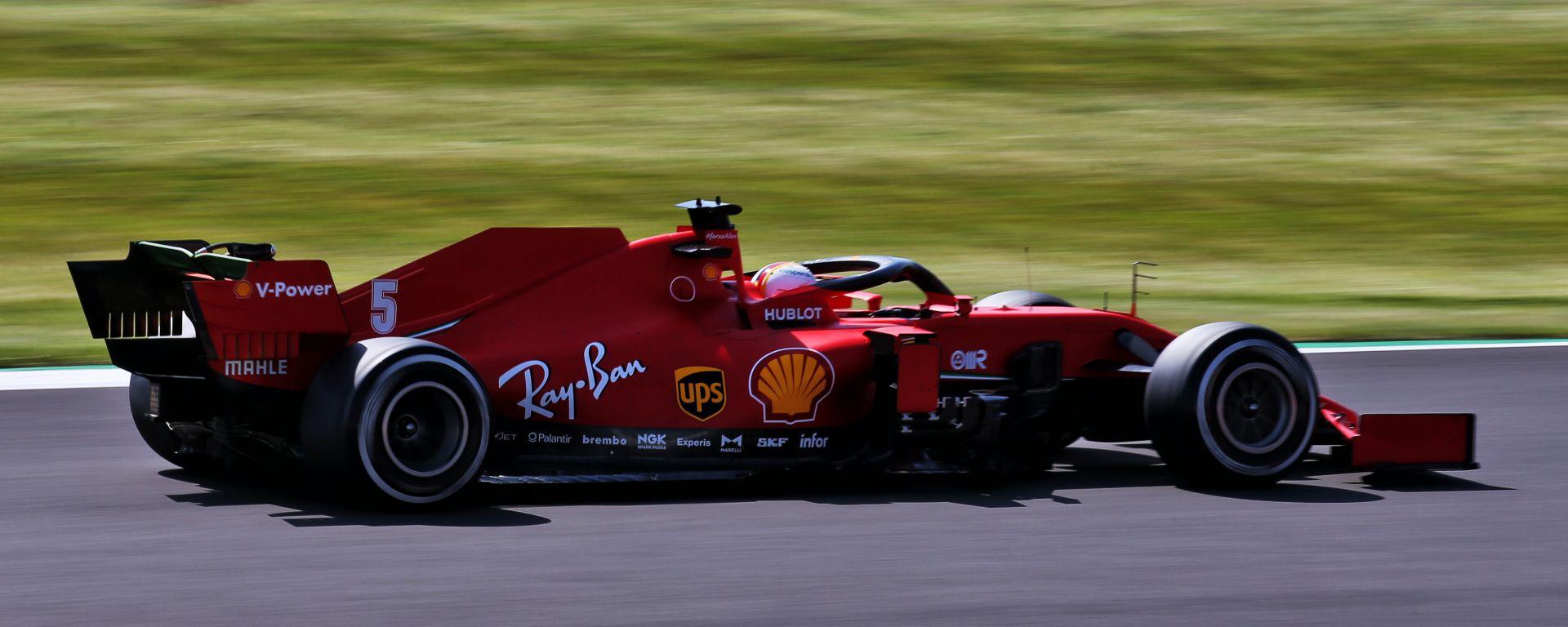 F1, GP Gran Bretagna 2020: Sebastian Vettel (Ferrari)