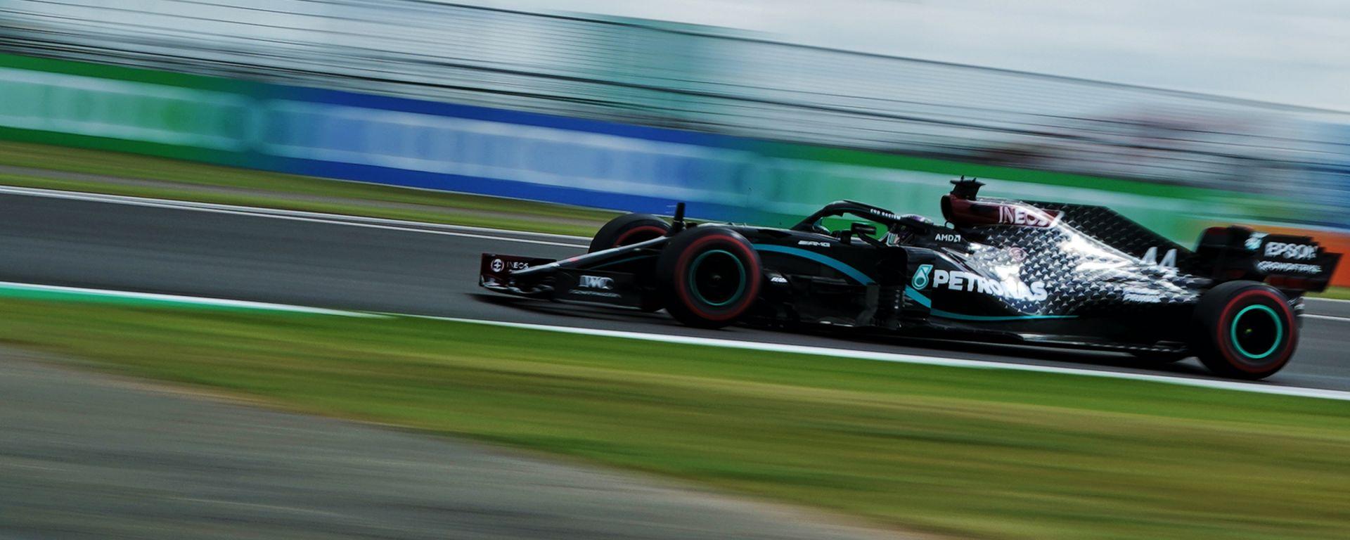 F1 GP Gran Bretagna 2020, Silverstone: Lewis Hamilton (Mercedes AMG F1) in qualifica