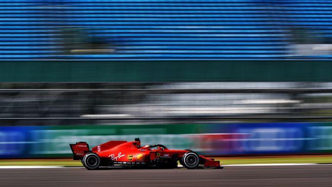 F1 GP Gran Bretagna 2020, Silverstone: Sebastian Vettel (Ferrari)