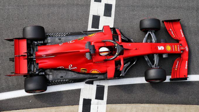 F1 GP Gran Bretagna 2020, Silverstone: Sebastian Vettel (Scuderia Ferrari)