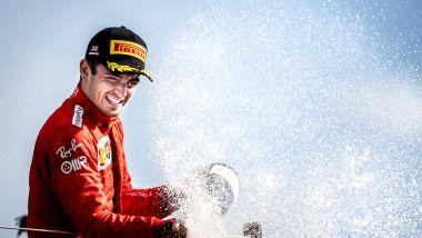 F1 GP Gran Bretagna 2021, Silverstone: Charles Leclerc (Scuderia Ferrari) sul podio