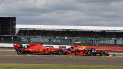 F1 GP Gran Bretegna 2019, Gasly (Red Bull) in lotta con Vettel (Ferrari)